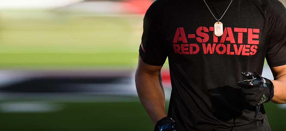 A-State Red Wolves Football Player