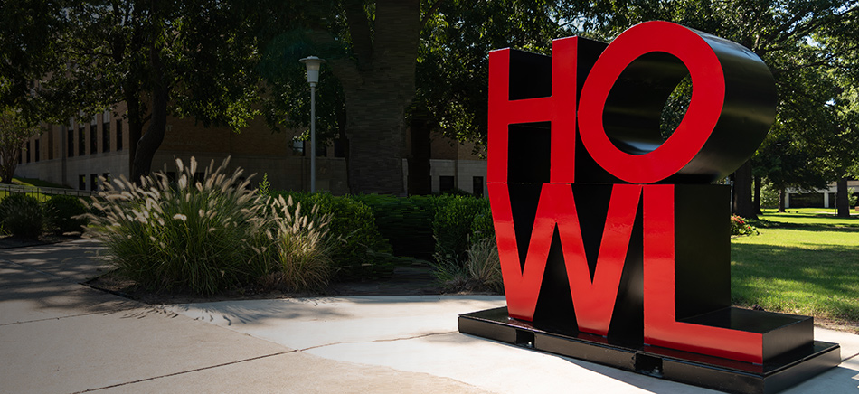 The HOWL statue on the A-State campus