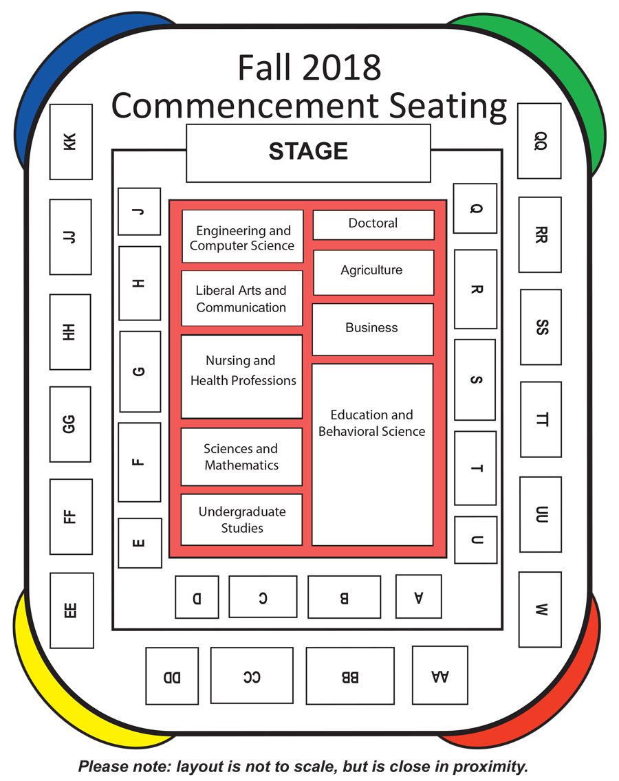 Commencement Ceremony Seating Chart