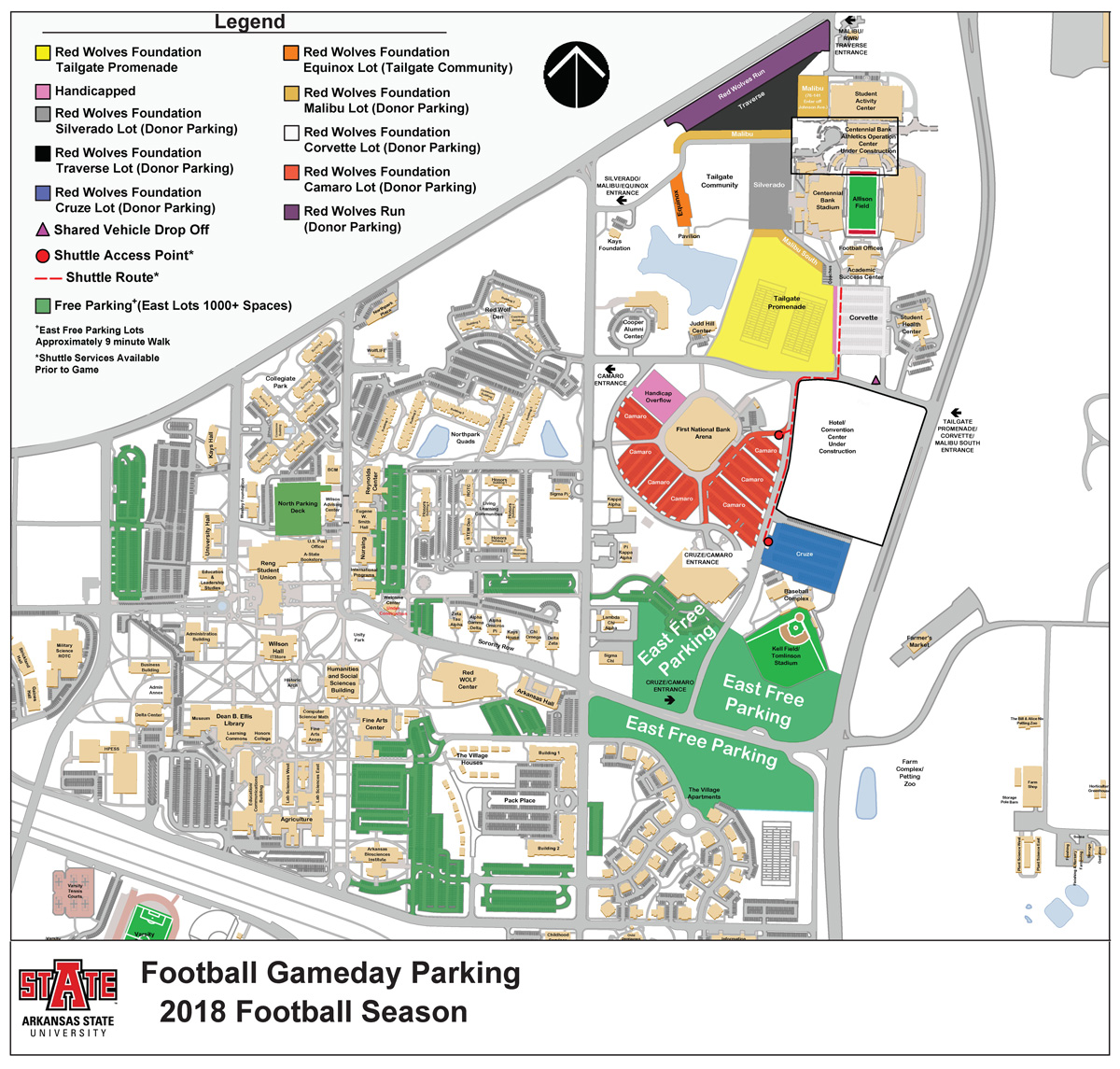 A State Announces Changes to Gameday Parking