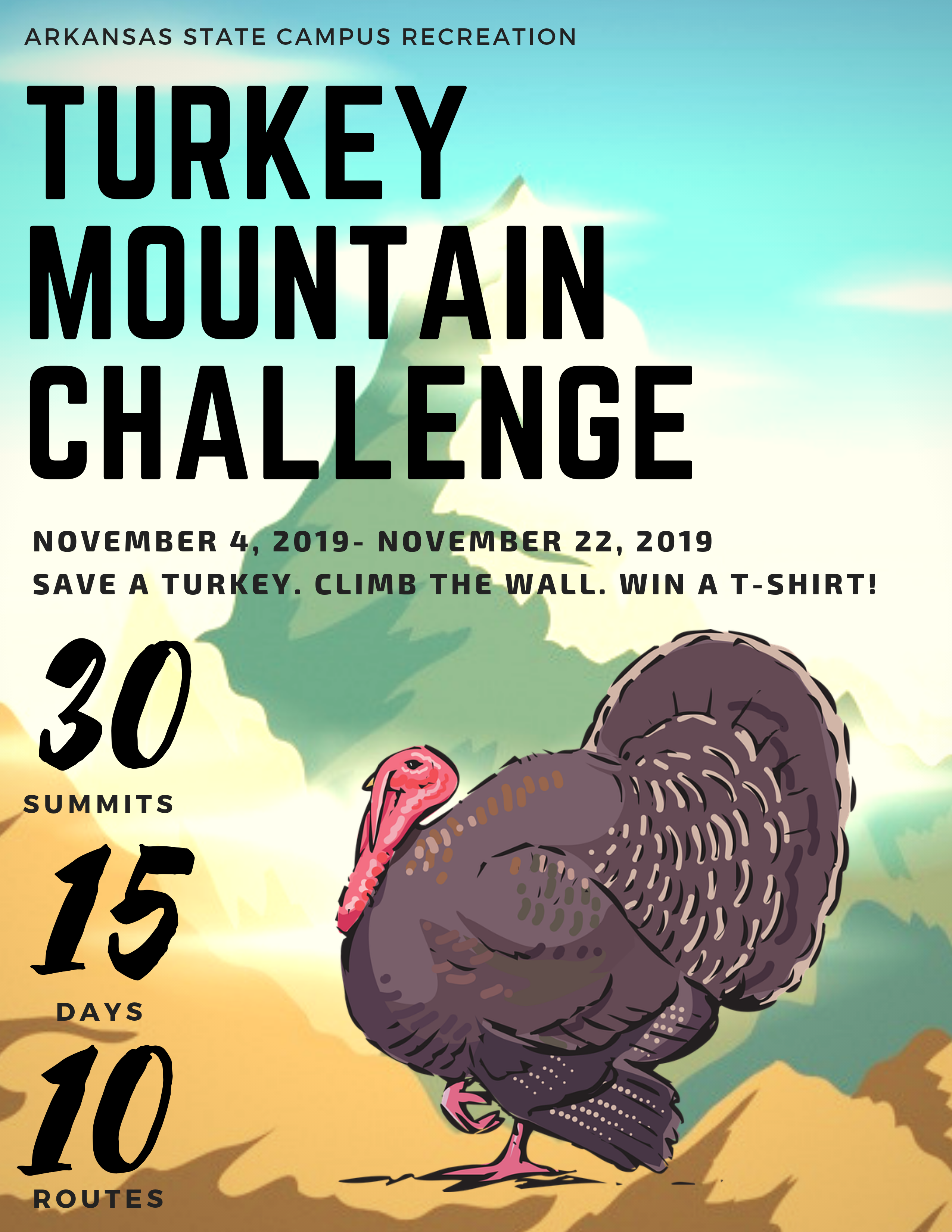 Turkey Mountain Challenge Flyer 2019