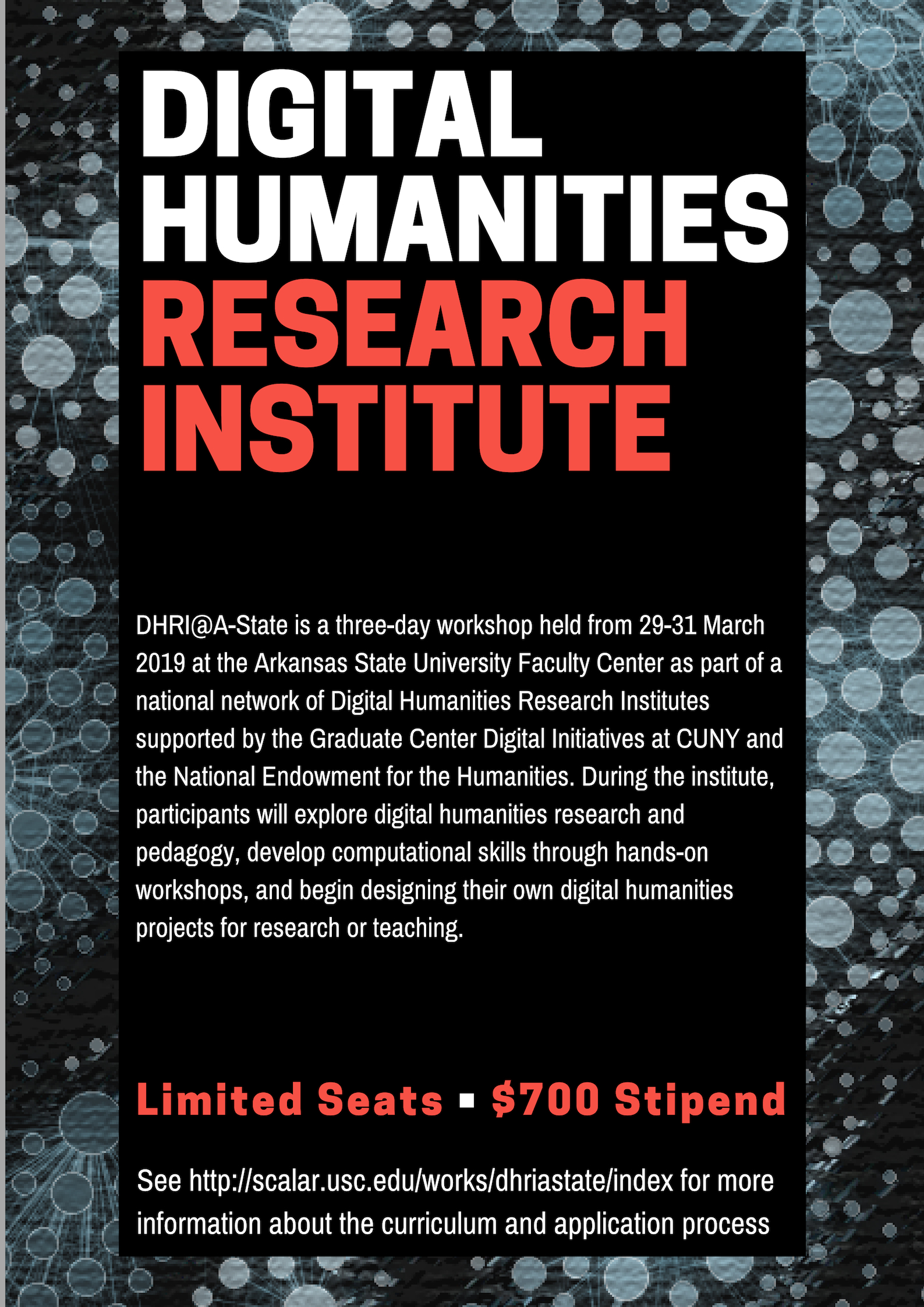 Digital Humanities Research Institute flyer
