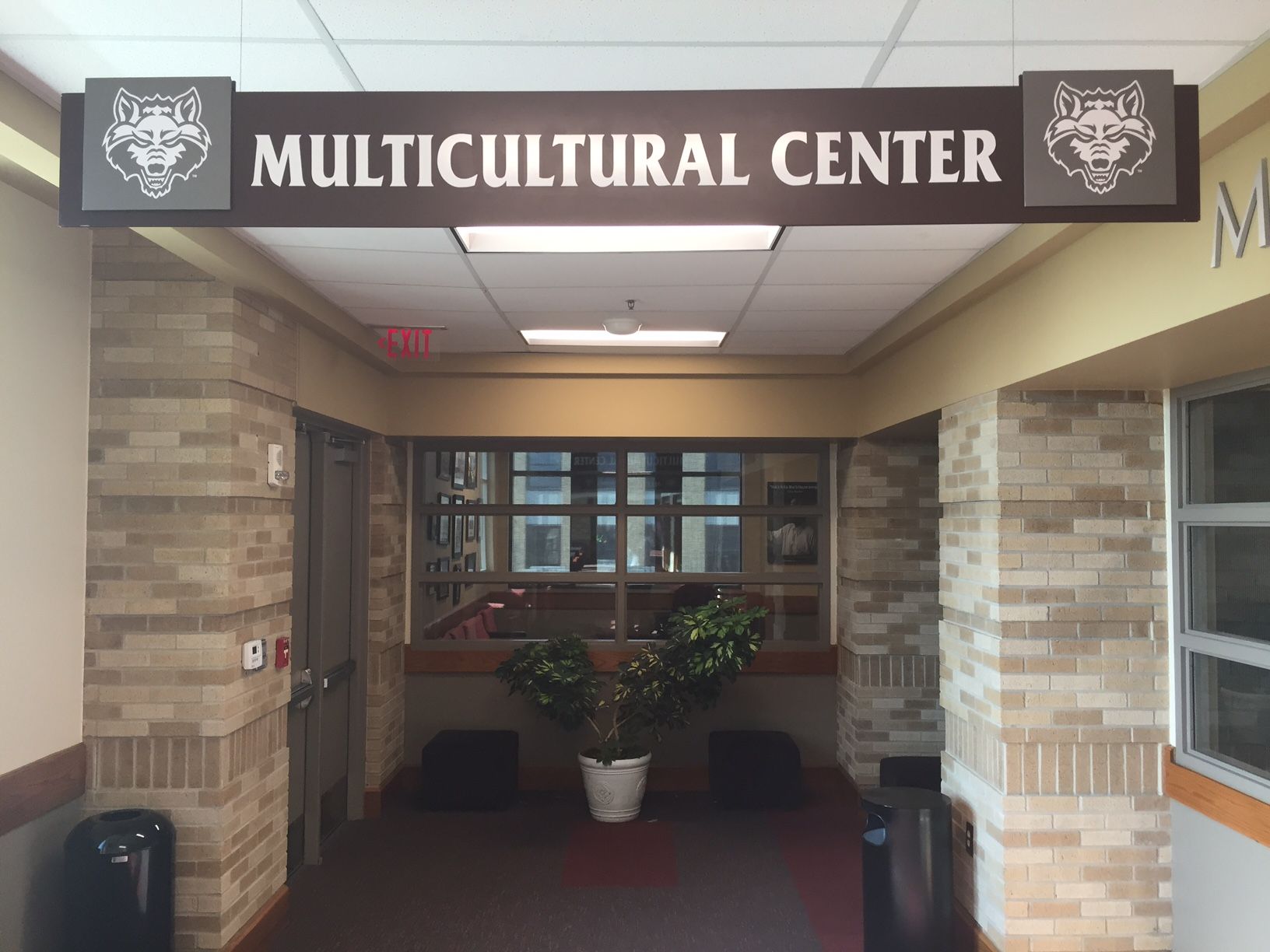 Multicultural Center Name Sign