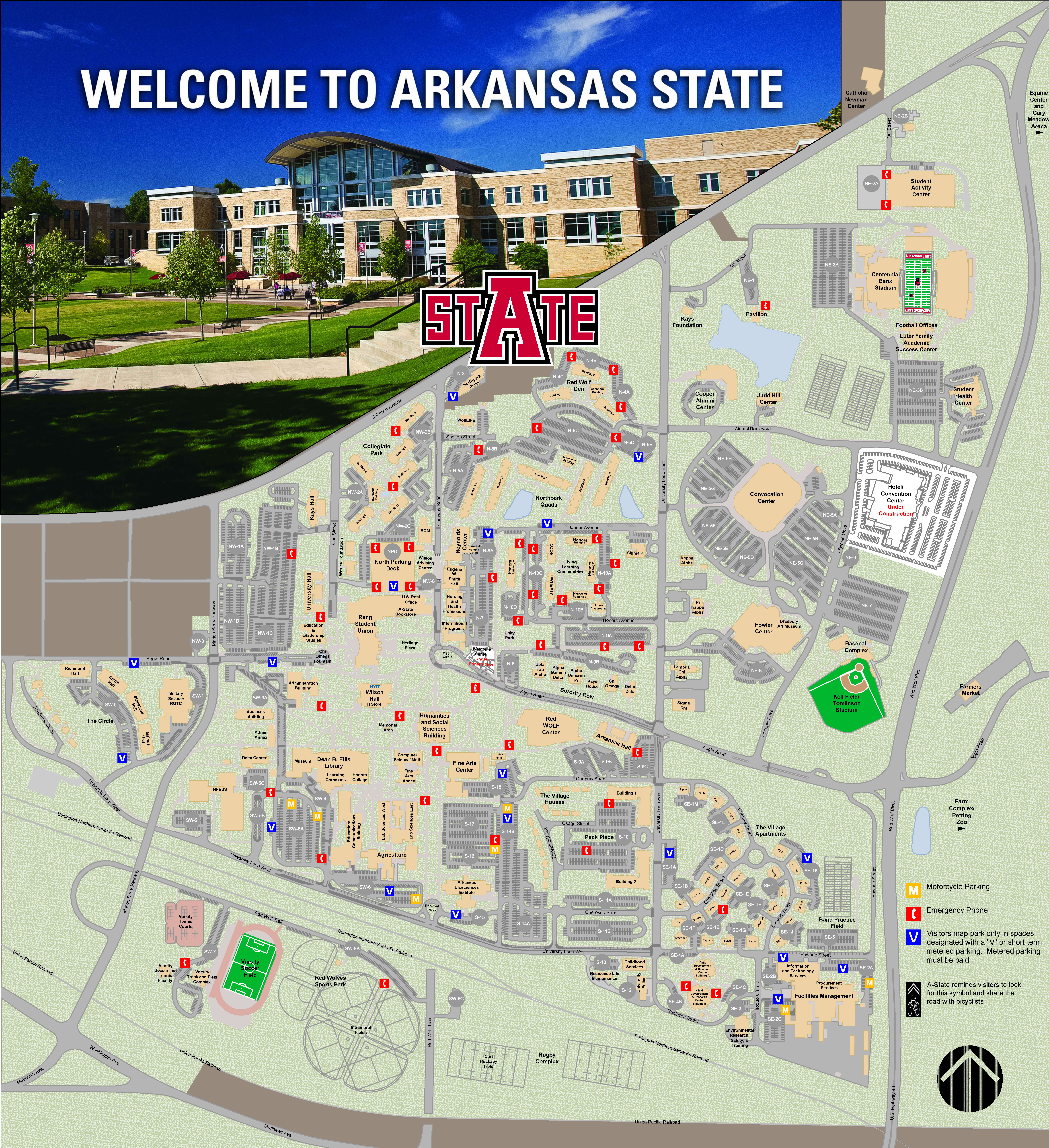 University Of Central Arkansas Campus Map.Visiting