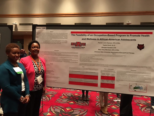 Dr. Pamela Kipkulei and Dr. Topeka Small present at AOTA