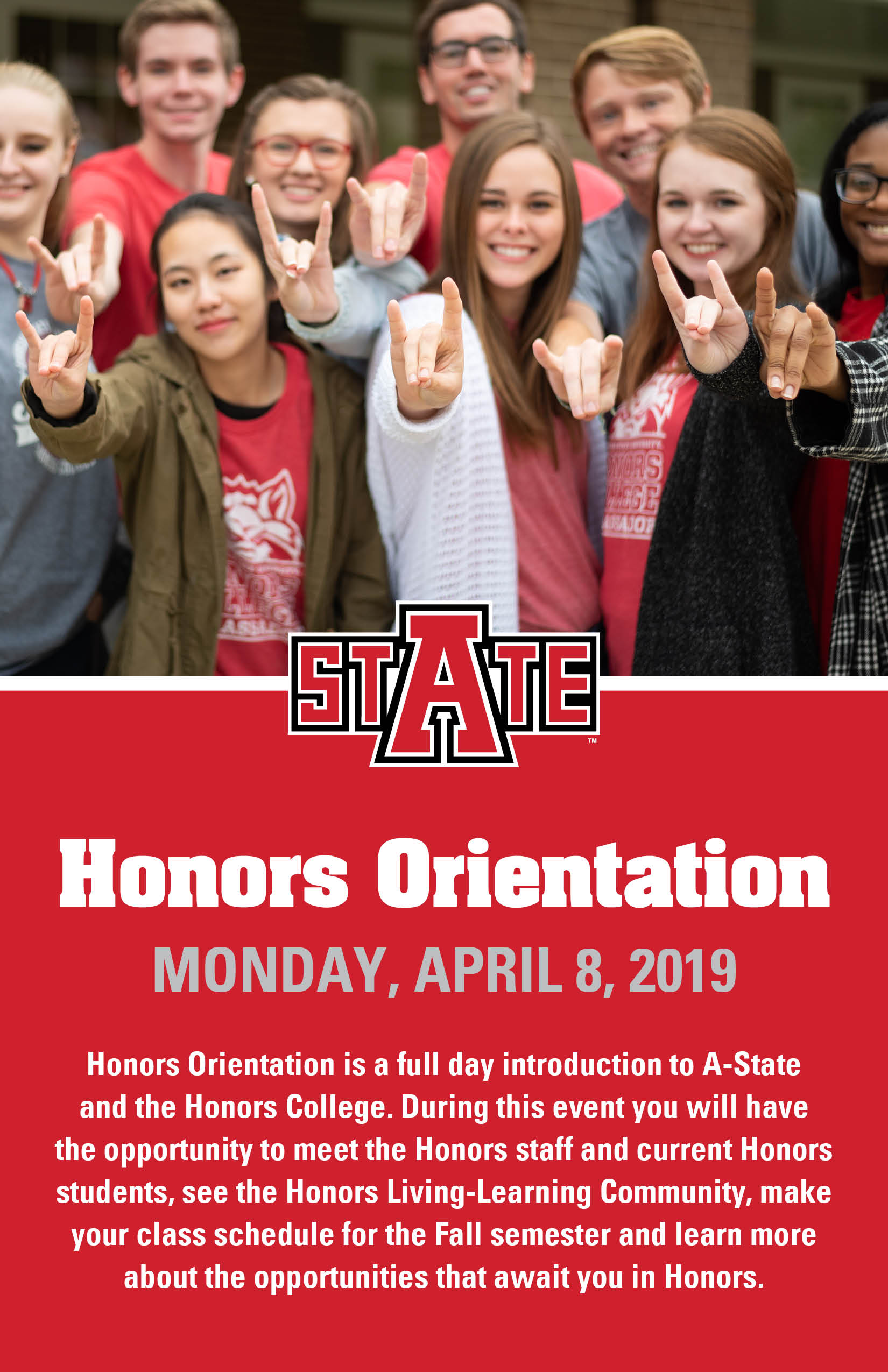 Honors Orientation postcard_2019