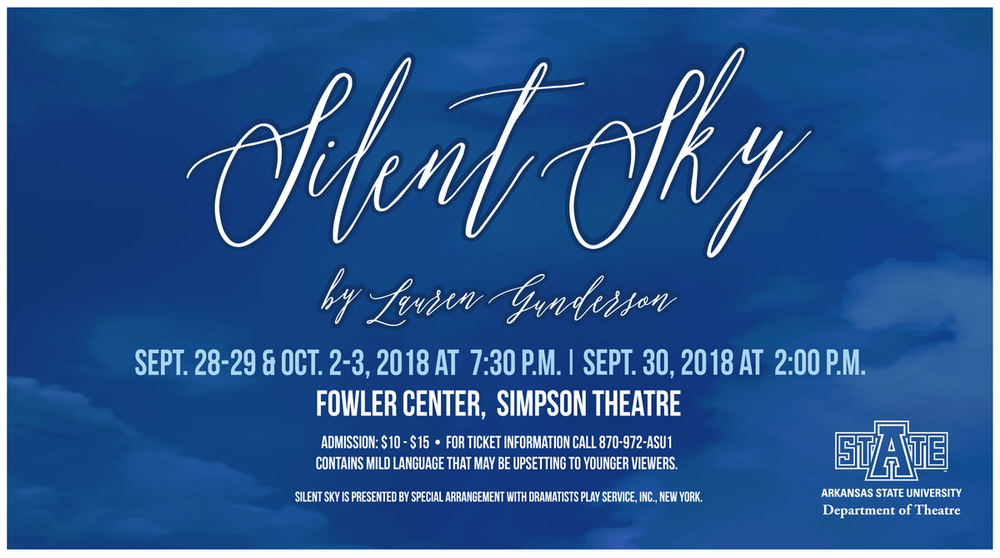 Theatre Announces Cast and Crew for 'Silent Sky'