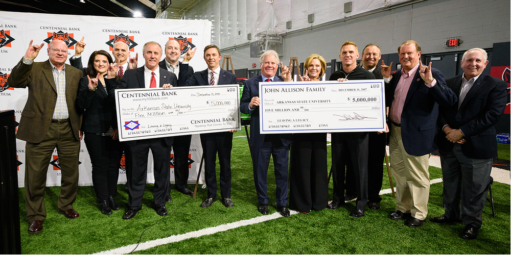 A-State Athletics Receives $10 Million from Allison Family, Centennial Bank