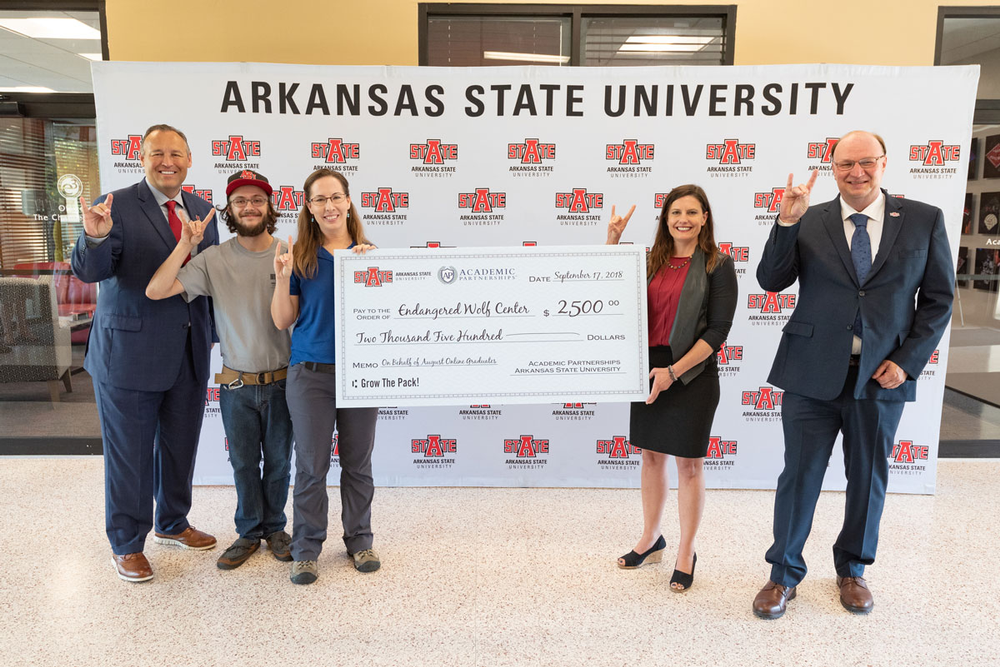 Academic Partnerships/A-State Online Class Gift to 'Grow the Pack'