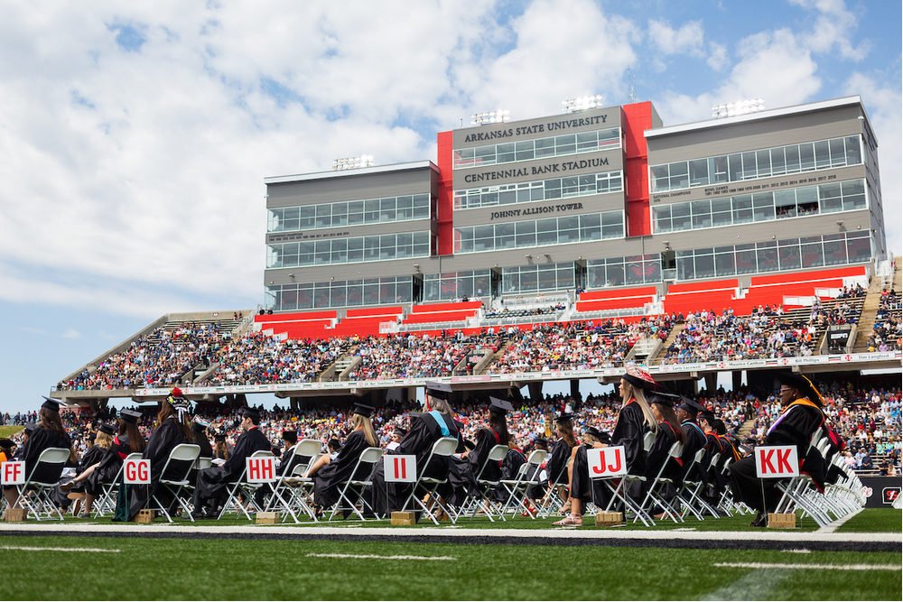 Weather Cooperates to Help A-State Complete Morning Ceremony