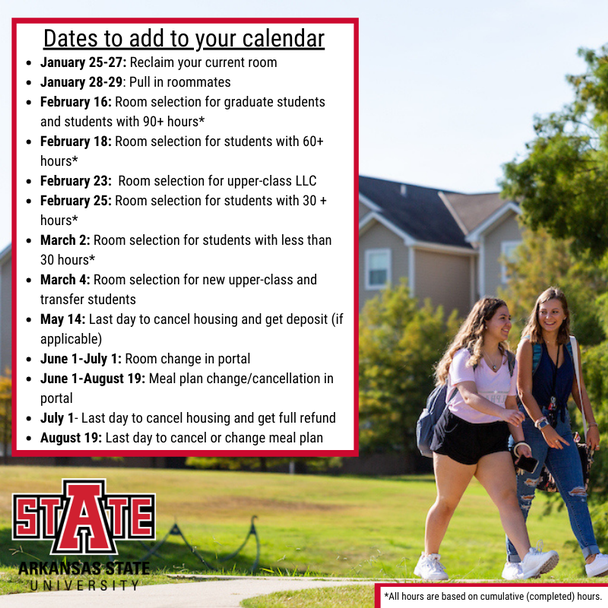 Returning Students Fall 21 Important Dates