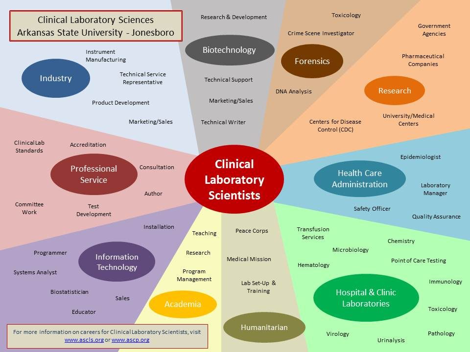 Clinical Laboratory Sciences available career fields