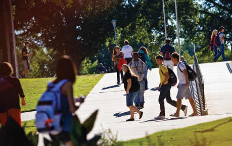 Students walking on the ASU campus
