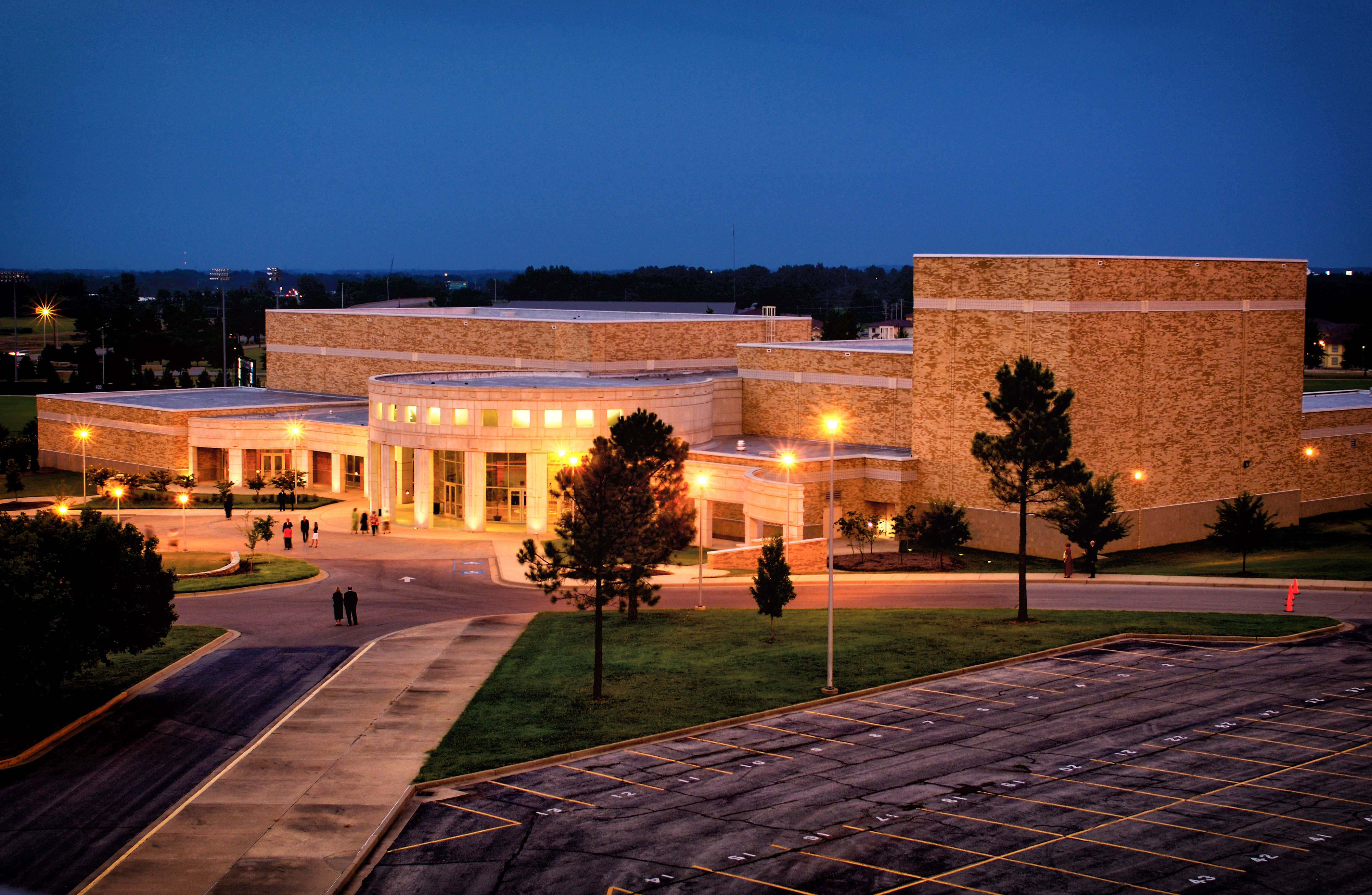 Fowler Center at Night