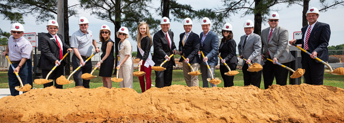Groundbreaking Marks Start for Embassy Suites and Red Wolf Convention Center Complex