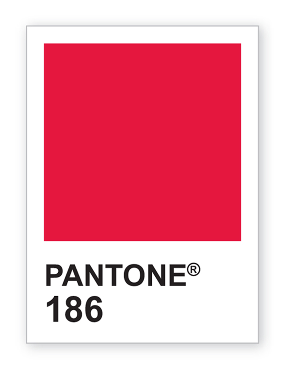 Red 186 Pantone Color Chip