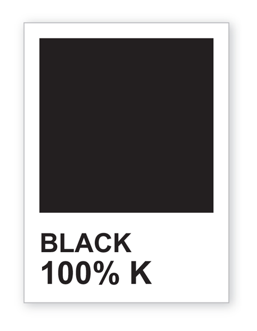 Black Pantone Color Chip