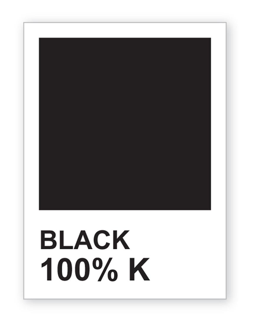 Black pantone color chip
