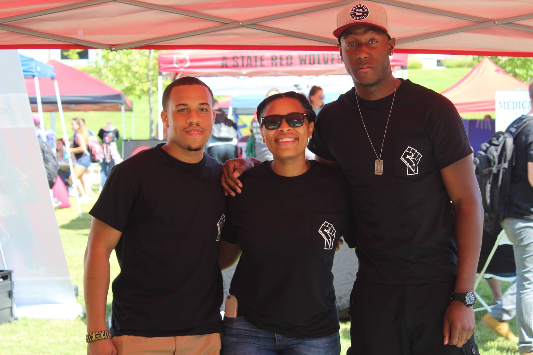 Members of the Black Student Association