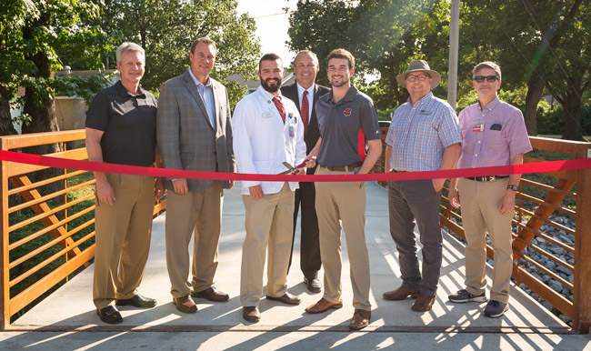Ribbon Cut for Campus Bicycle and Pedestrian Multiuse Path