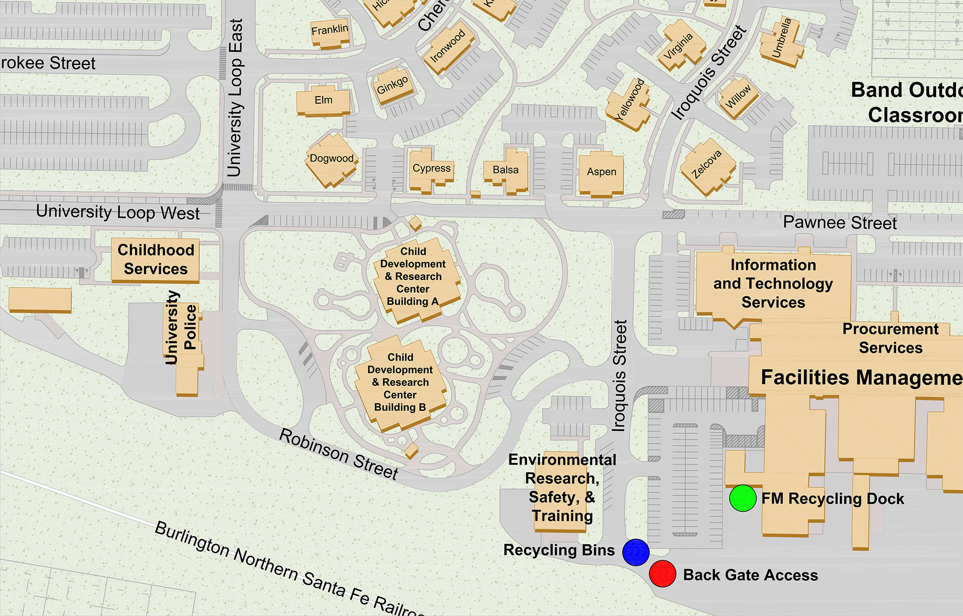 Map of Recycling Locations