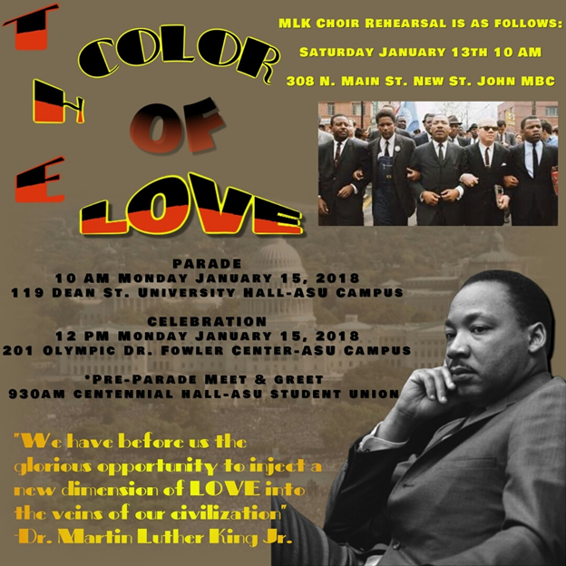 Martin Luther King Jr. Day Celebration is Monday, Jan. 15