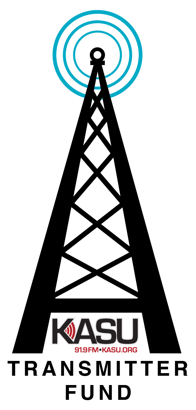 An illustration of a transmitter with the KASU logo.