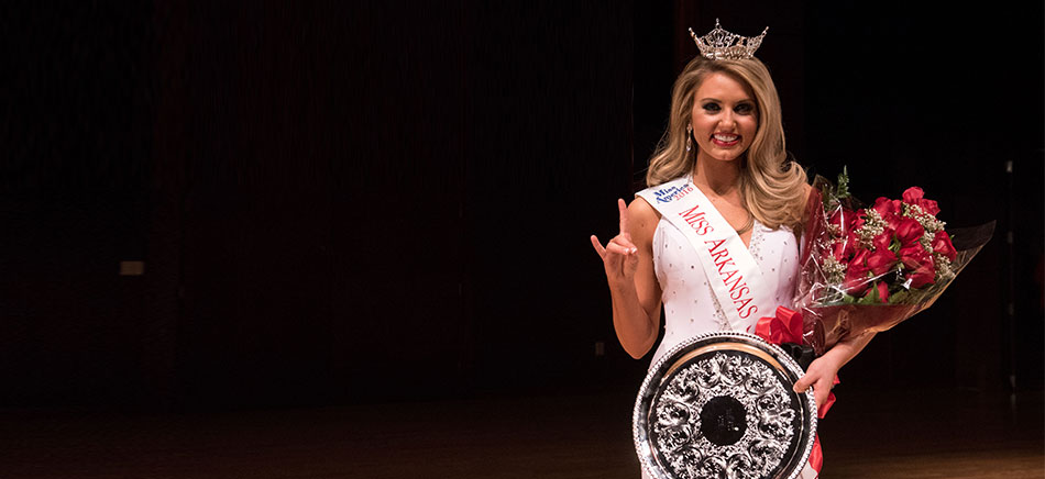 Bailey Moses at the Miss Arkansas State pageant