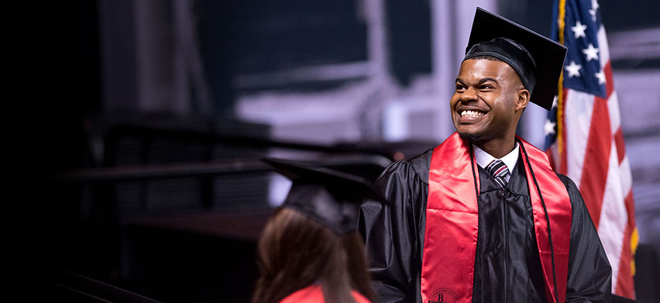 A-State graduate Brandon Haley at the 2016 Spring Commencement