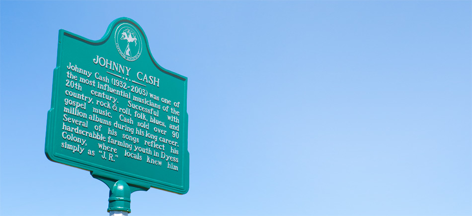 The Johnny Cash Historic Marker Sign