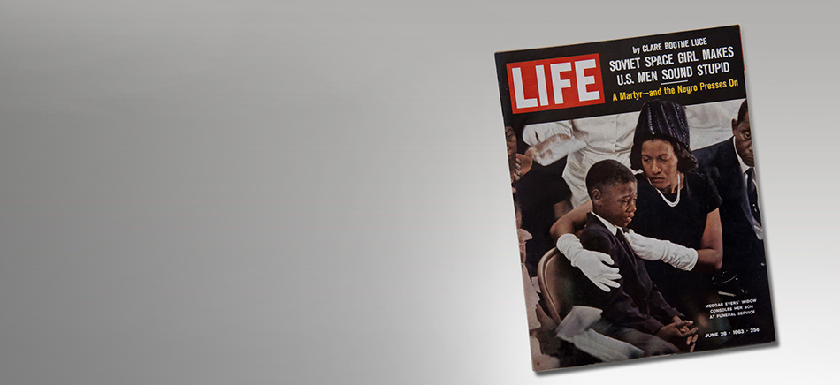 Medgar Evers Funeral, Life Magazine, June 28, 1963. From the NEH on the Road exhibition