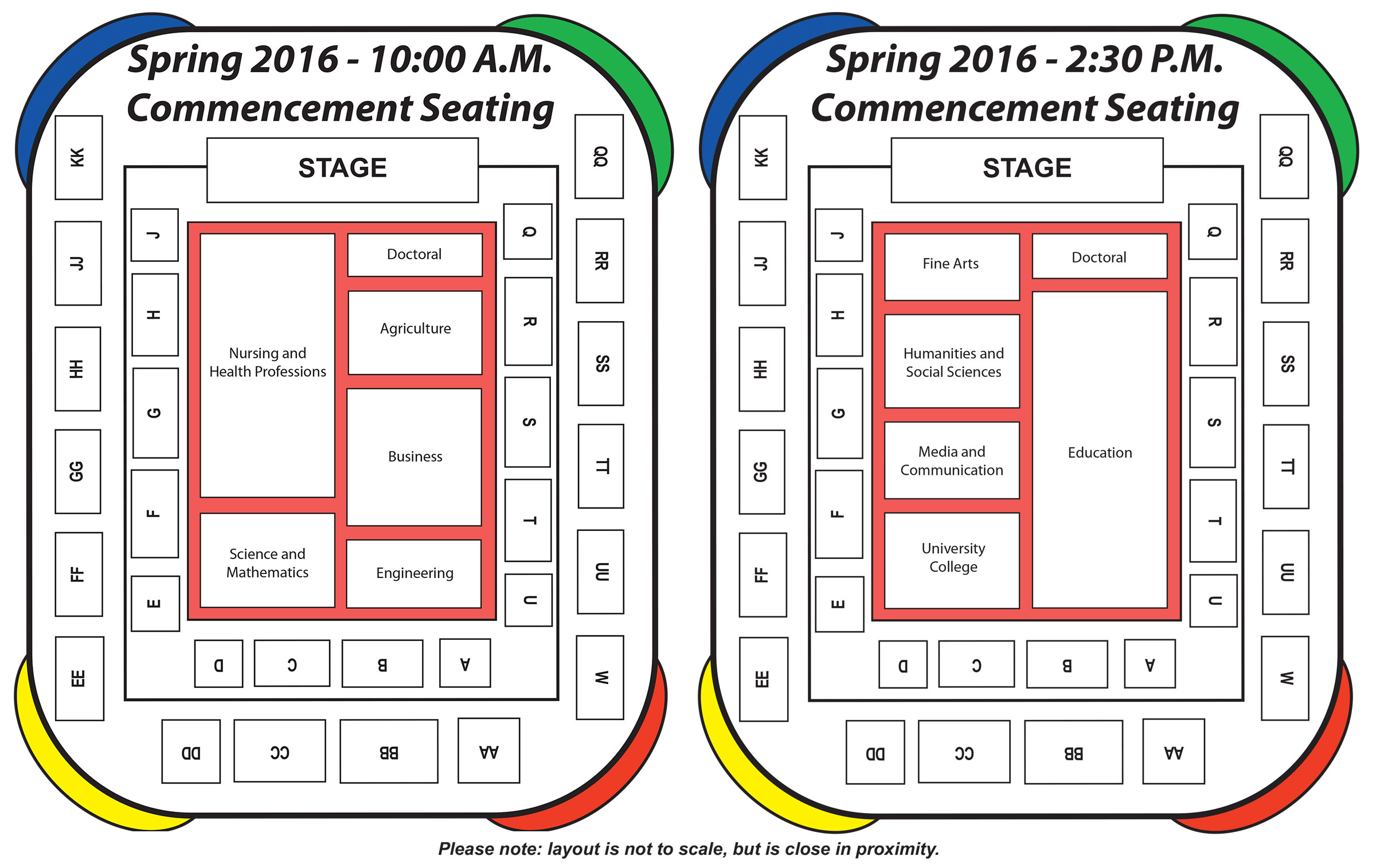 2016 Spring Graduation Seating Chart