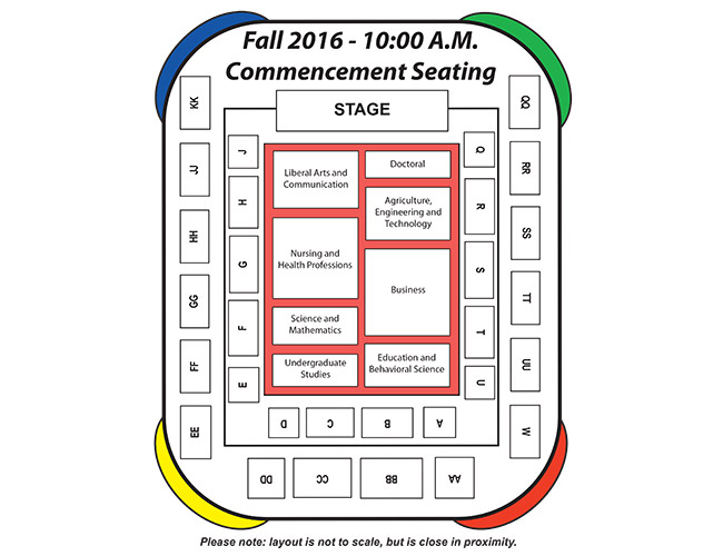 Fall 2016 Commencement Seating Chart