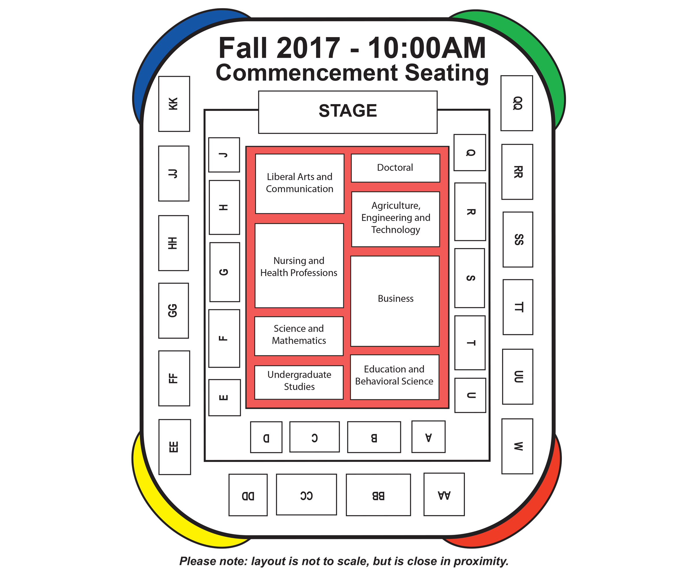 2017 Fall Commencement Seating Chart