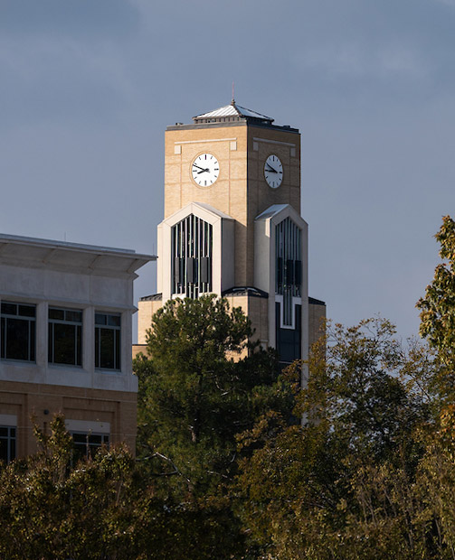 Library clock tower