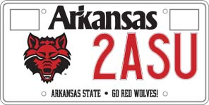 License plate with Red Wolf