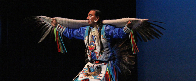 Native pride dancer