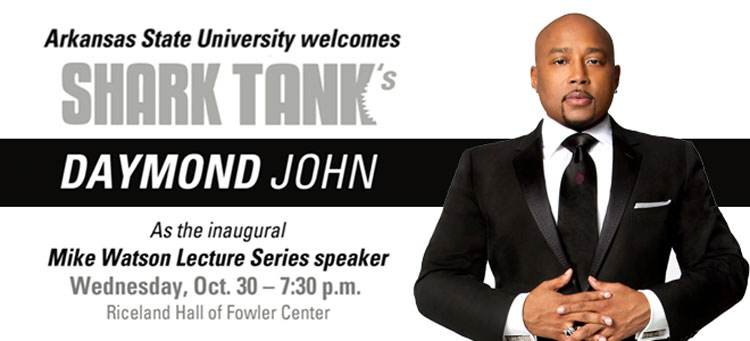 The first Watson Lecture is scheduled for Wednesday, Oct. 30, at 7:30 p.m. in Riceland Hall of Fowler Center.