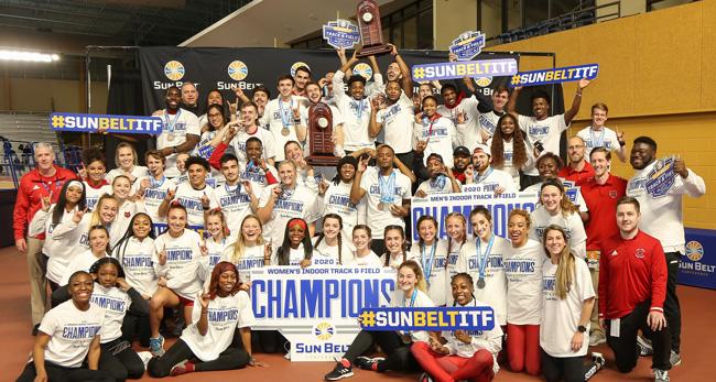 Members of Indoor Track Teams in Group Photo
