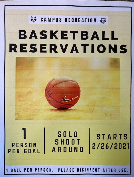 Basektball Reservation Flyer