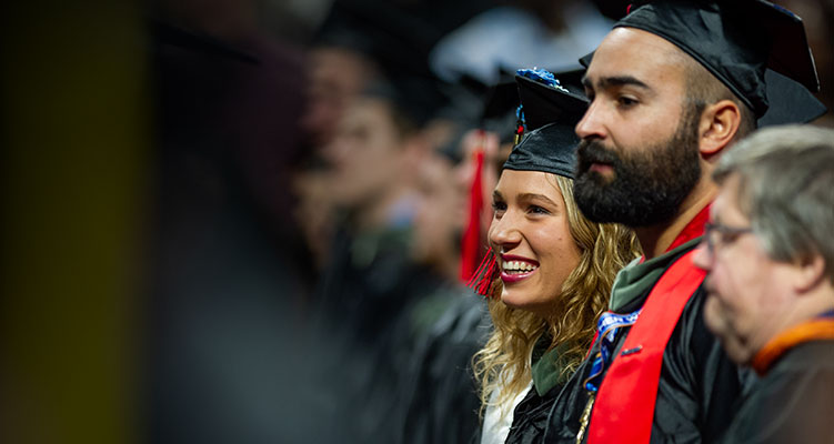 Students at the 2018 Fall Commencement