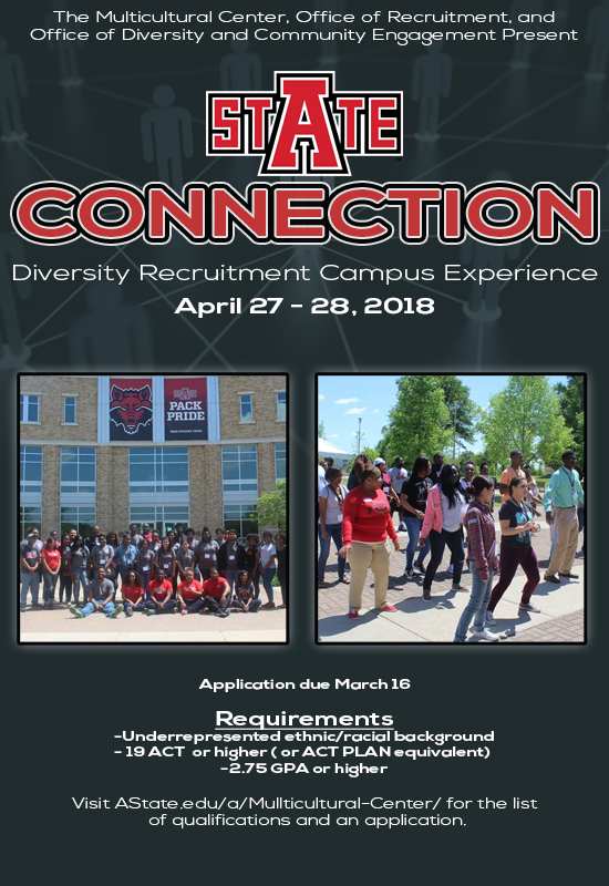 Flyer for A-State Connection