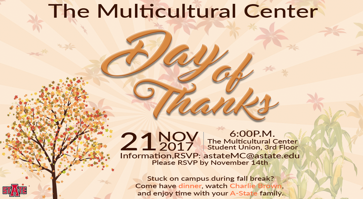 Day of thanks flyer