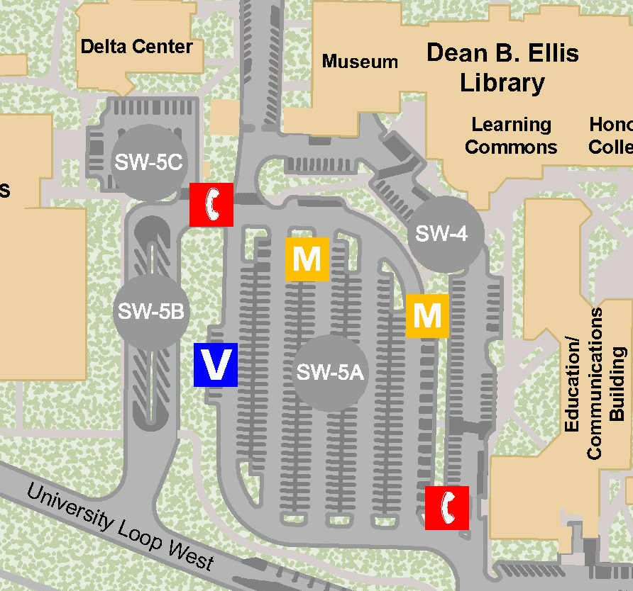 Enlarged Parking map
