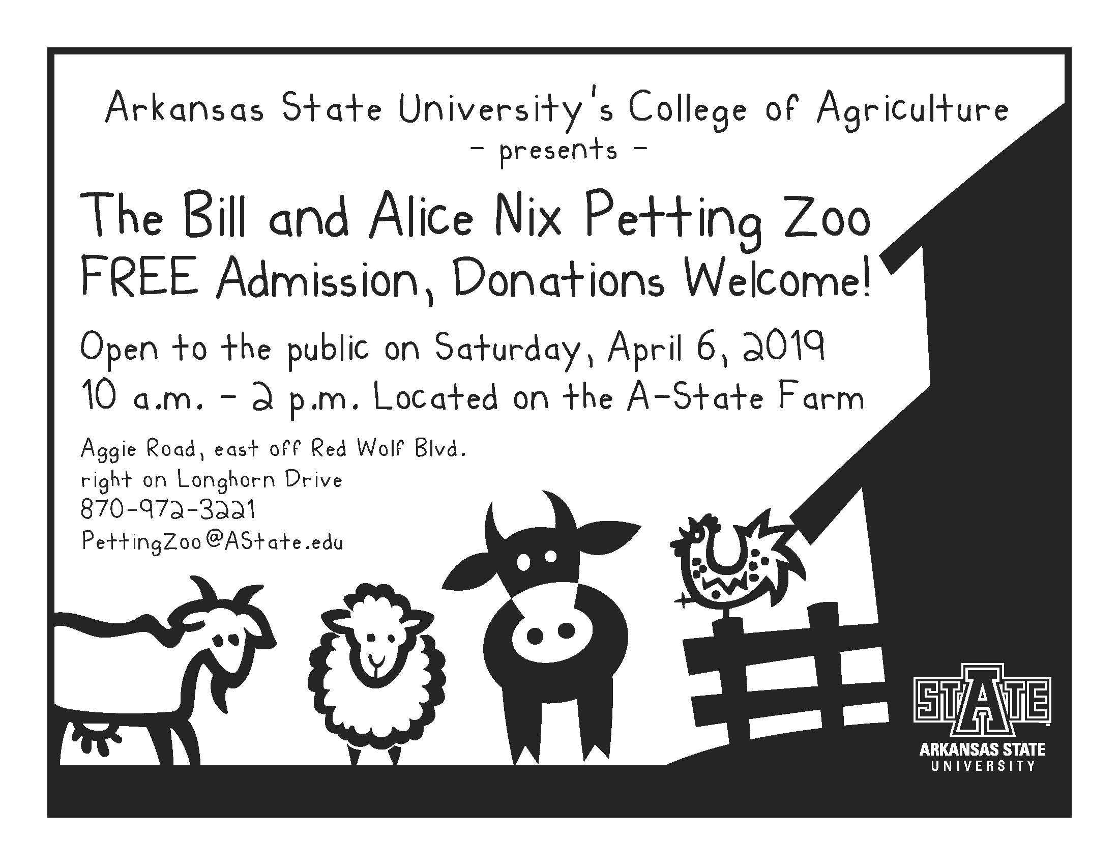 petting zoo open flyer S19