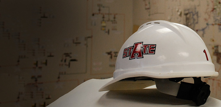 An A-State hard hat