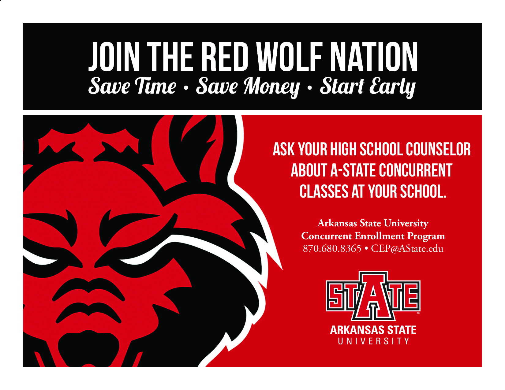 Red Wolf Nation Card Revised