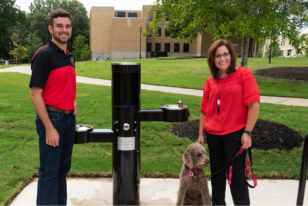 Hydration Station Unveiled as Part of Campus Beautification Project