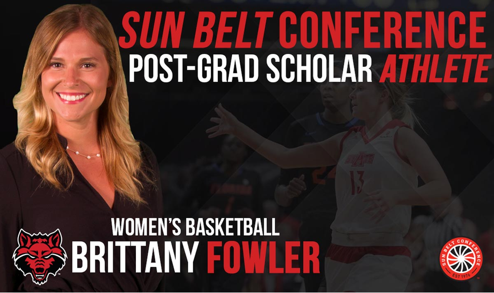 Fowler Named Female Sun Belt Postgraduate-Scholar Athlete