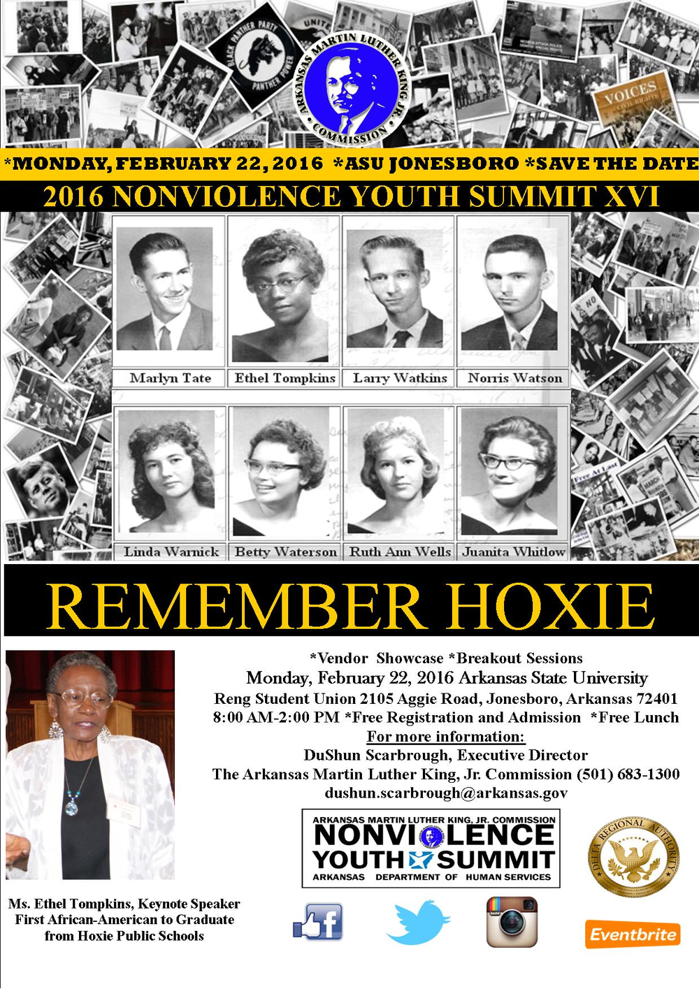 MLK Commission to Present Nonviolence Youth Summit Featuring Keynote Speaker Ethel Tompkins